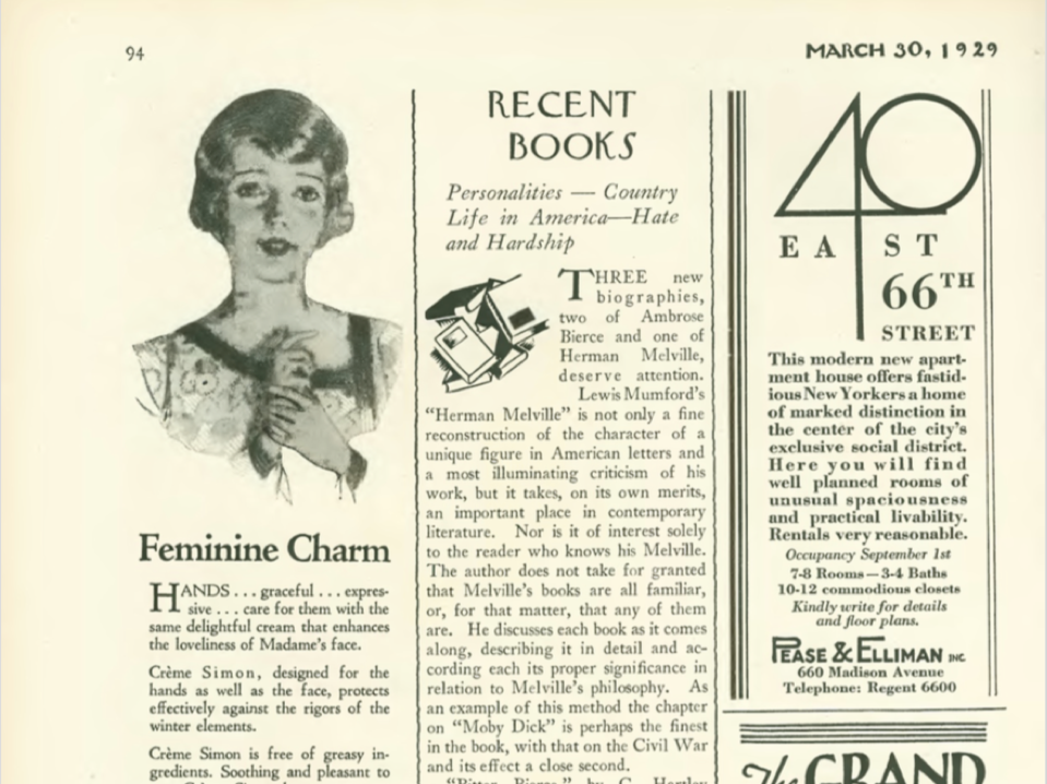 Recent Books - The New Yorker - 03.30.1929